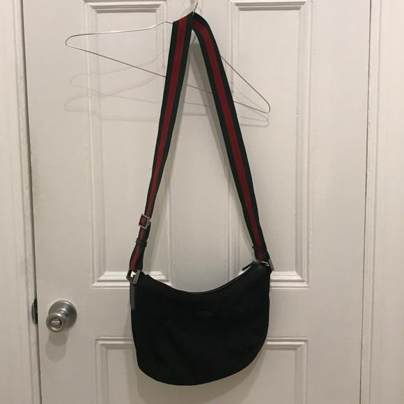 70ff19ef1d4 Gucci Handbags - Gucci GG Black Crossbody Bag with Signature Strap